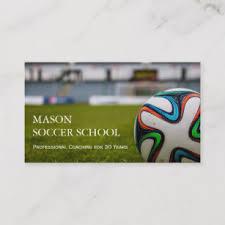 Soccer Business Card Soccer Ball Football School Coach Business Card