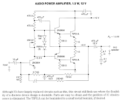 amplifier electronic circuits audio amp schematics page 1 1 5w 12v audio amplifier schematic