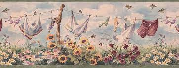 Laundry Wall Paper Border 7031 BSB ...