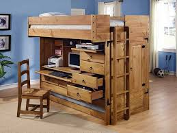Adult Loft Bed With Desk And Closet Underneath