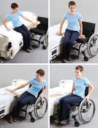 transfer patient from bed to wheelchair left sided weakness chair