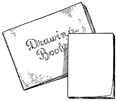 lutz drawing book and scribbling pad png icons