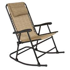 folding rocking chair foldable rocker outdoor patio furniture beige com