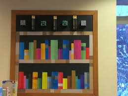Minecraft bookshelf library bulletin board Creeper torches