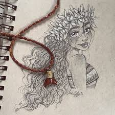 Sketched this lovely islander last night. I finally saw Moana! And, I'm ...
