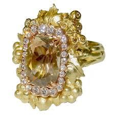 Stambolian Design Stambolian Sunstone Diamond Gold Harvest Ring Diamonts Are