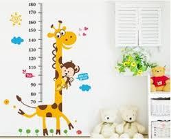 Wall Decal Giraffe Height Chart