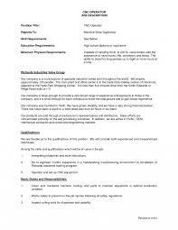 Machinist Job Description Resume Writing Your Qualifications In Cnc Machinist Resume Must Sample 5