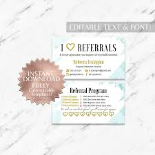 Mint Floral Rodan And Fields Referral Card Instant Download