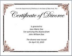 Stock Certificate Template Divorce Certificate Template
