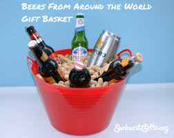 imported beers in plastic tub filled with whole in s roasted peanuts