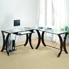 l shaped glass top desk furniture glass top desk l shaped glass top desk glass top