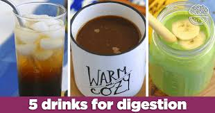 5 healthy drinks for digestion gut