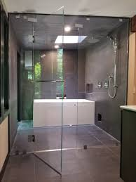 pros option for curbless shower entry although linear drains