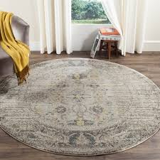 unique 6 foot round rug of safavieh monaco vintage distressed grey multi