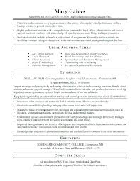 Resume Objective For Legal Assistant Best of Sample Paralegal Resume Objectives Resume Tutorial