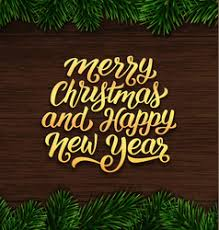 Merry Christmas and Happy New Year Gold Frame Vector Images ...
