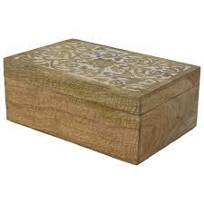 white washed mango wood. Indian Heritage \u2013 Jewelry Box Mango Wood Carved In Natural / White  Wash Finish (Set Of 3) White Washed Mango Wood