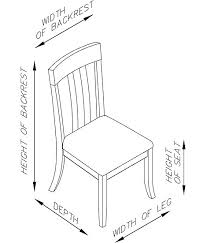 dining room furniture dimensions.  Dimensions Mango Walnut Side Chair Dimensions To Dining Room Furniture G