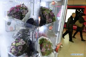 Floral Vending Machine Unique Flower Vending Machines Appear In Shanghai Subway Station Chinaorgcn