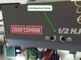 garage door opener adjust automatic garage door opener chain adjustment