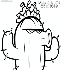 Coloring Pages Plants Vs Zombies Coloring Pages Free Printable For