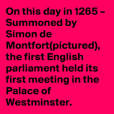 Image result for 1265 – The first English parliament