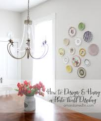 how to design hang a plate wall display