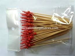 cocktail skewers handmade picks bead frilled toothpicks sandwich fruit sticks buffet canapes party food bamboo