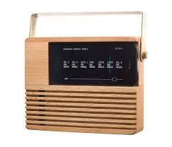 wooden radio iphone is a flashback to the 1970s