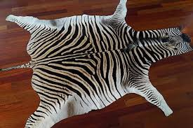 no felt zebra skin rug grade a outsourcesol llc