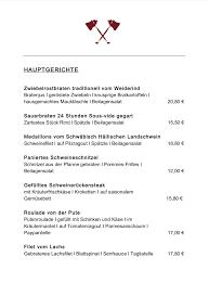 Unsere Speisekarte Wilder Mann Westhausens Webseite