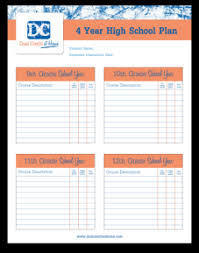 Four Year College Plan Template Four Year Plan Template Radiofixer Tk