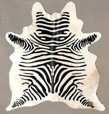 faux zebra hide rug small cowhide zebra hide rug