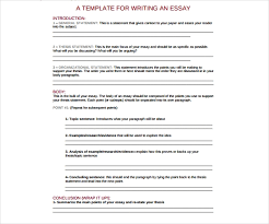 What Is Thesis In Essay 3 General Essay Outline Templates Pdf Free Premium