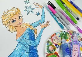 Disney Frozen Coloring Book Queen Elsa Coloring Pages For Kids