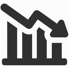 Down Arrow Chart Decrease Icon 421944 Free Icons Library
