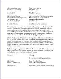 Printable Sample Proper Business Letter Format Form Real Estate