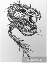 Plakát Dračí Had Tattoo šablony