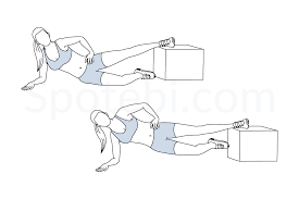 Plank Exercise Chart Inner Thigh Raise To Plank Illustrated Exercise Guide