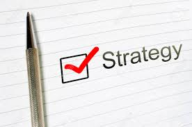 Strategy Word Written On Lined Paper Strategy Concept Checkbox