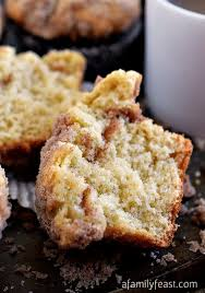 She writes about cooking, baking, desserts, and cake decorating. Sour Cream Coffee Cake Muffins A Family Feast