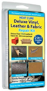 furniture repair kit. liquid leather heat cure deluxe vinyl, \u0026 fabric combo repair kit - as seen on tv furniture