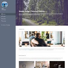 Volton Is Simple Personal Portfolio Template With Vertical Menu At