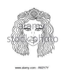 Doodle Ragazze Faccia Ritratto Di Donna Per Adulti Libro Da