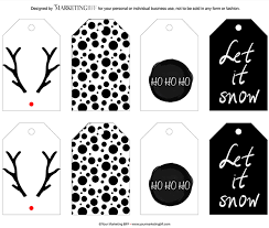 Modern Chic Holiday Gift Tag Printable :: Free | Holiday gift tags ...