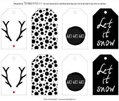 Modern Chic Holiday Gift Tag Printable :: Free | Holiday gift tags ...
