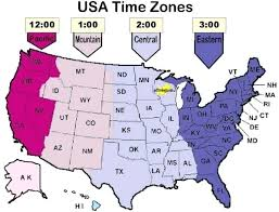 Map Of Usa With Time Zone Arabent Me