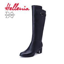<b>Hellenia</b> New 2018 Genuine Leather <b>Women</b> Long <b>Boots</b> Spring ...