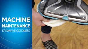 how to clean your bissell spinwave cordless hard floor spin mop after use